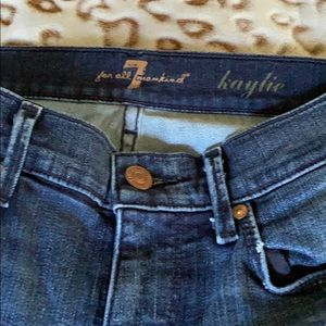 NWOT 7 for all mankind size 25 flare jeans